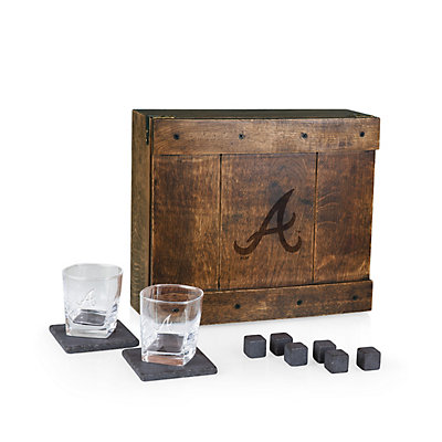 Atlanta Braves Whiskey Box Gift Set
