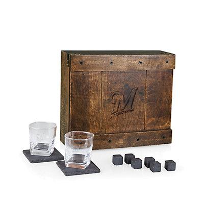 Milwaukee Brewers Whiskey Box Gift Set