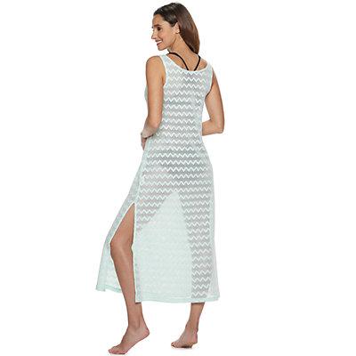 Women's Portocruz Chevron Midi Dress Cover-Up