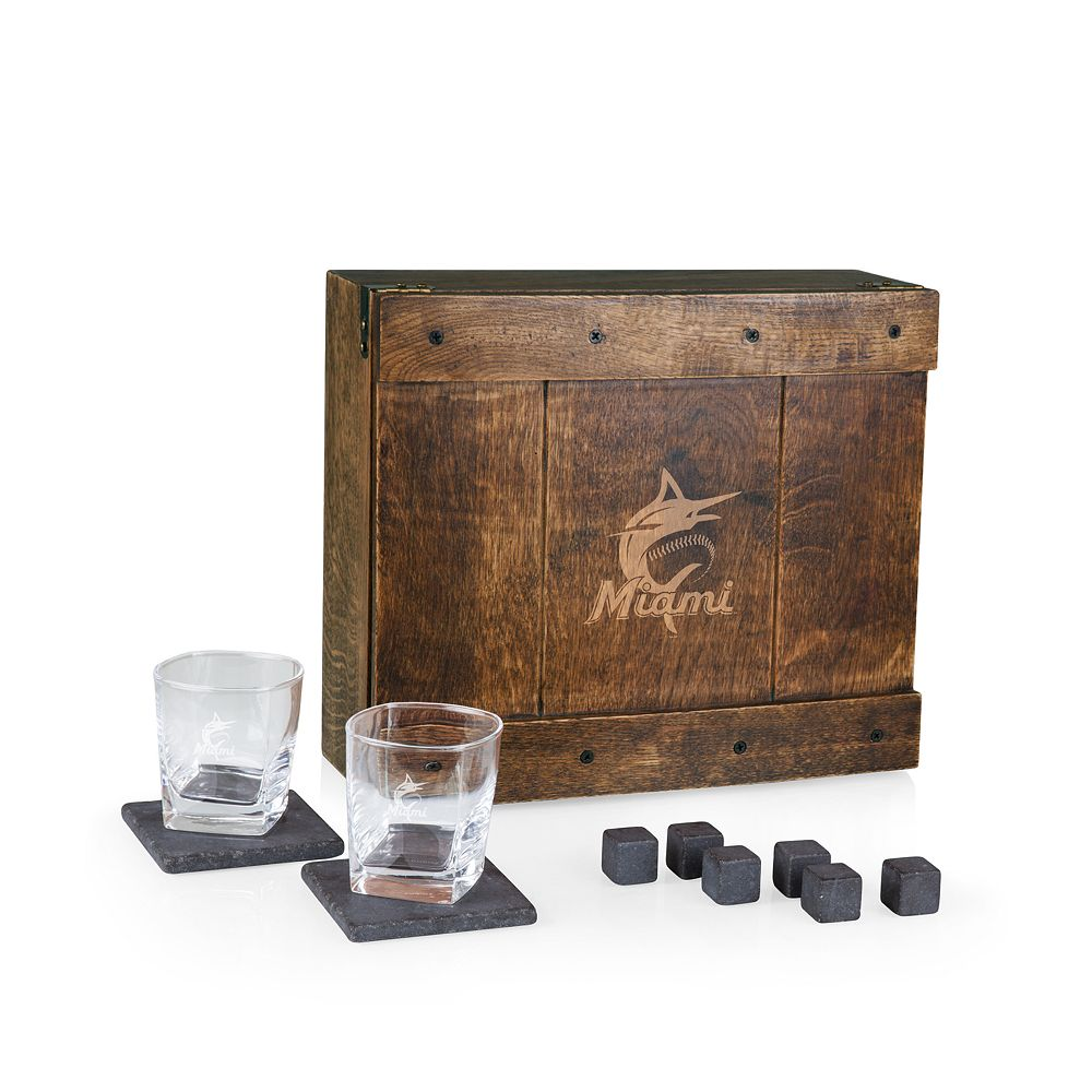 Miami Marlins Whiskey Box Gift Set