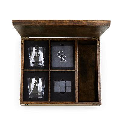 Colorado Rockies Whiskey Box Gift Set