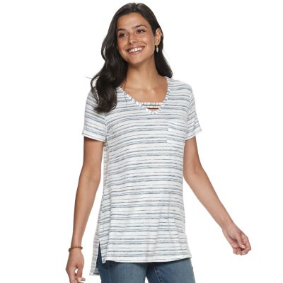 Women's SONOMA Goods for Life? Strappy Neck Tunic Tee