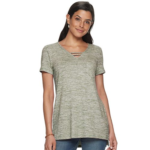 Women's SONOMA Goods for Life® Strappy Neck Tunic Tee