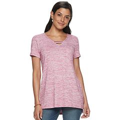 Women's SONOMA Goods for Life™ Strappy Neck Tunic Tee