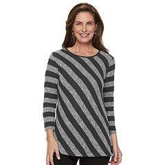 Women's Cathy Daniels Lightweight Striped Sweater
