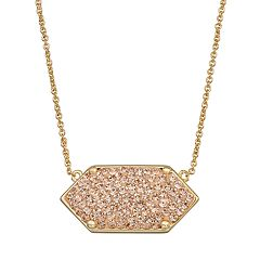 Harper Stone Geometric Crystal Necklace