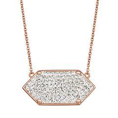 Harper Stone Geometric Crystal Necklace