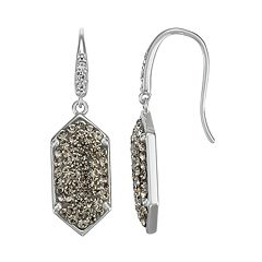 Harper Stone Geometric Crystal Drop Earrings