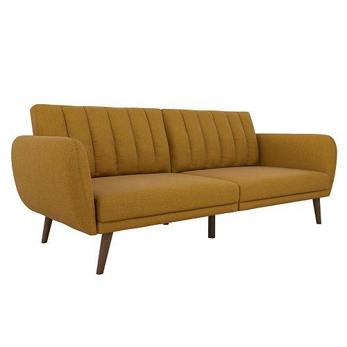 Novogratz Brittany Linen Convertible Sofa Futon