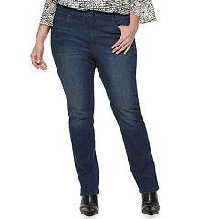 Plus Size Jennifer Lopez Straight-Leg Midrise Jeans