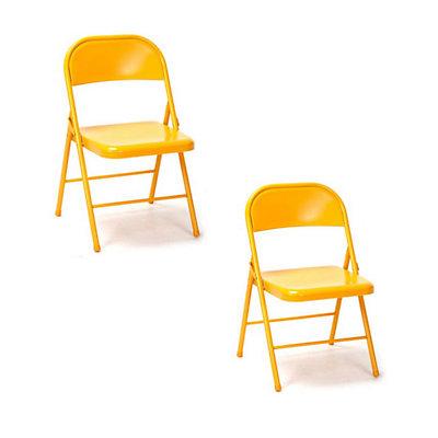 Novogratz Steel Folding Chair 2-piece Set