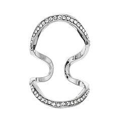 Jennifer Lopez Multi Row Geometric Ring
