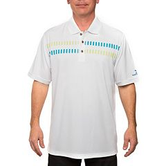 Men's Pebble Beach Classic-Fit Geometric Performance Golf Polo