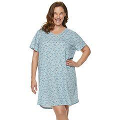 Plus Size Croft & Barrow® V-Neck Sleepshirt