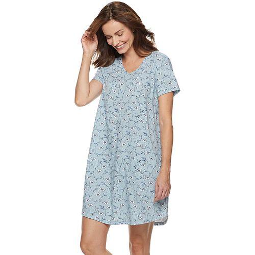 Women's Croft & Barrow® V-Neck Sleepshirt