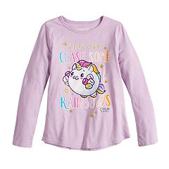 Girls 4-10 Jumping Beans® 'Let's Go Chase Some Rainbows' Glittery Graphic Tee