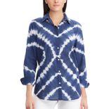 Women's Chaps Print Relaxed Shirt