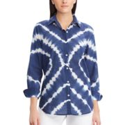 Women's Chaps Print Relaxed Shirt