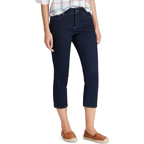 Women's Chaps 4-Way Stretch Slim-Cut Capri Jeans