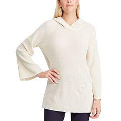 Women's Chaps Waffle-Weave Hooded Sweatshirt