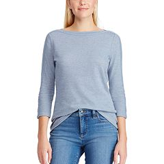 Women's Chaps Boatneck Lace-Up Top