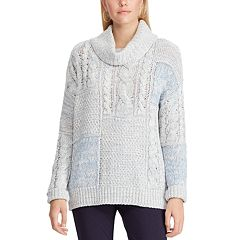 Chaps Patchwork Cowlneck Sweater