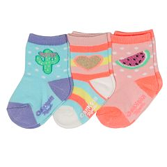 Baby / Toddler Girl OshKosh B'gosh® 3-pack Sparkle Crew Socks