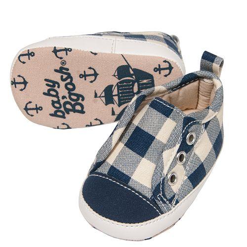 Baby Boy OshKosh B'gosh® Plaid Sneaker Crib Shoes