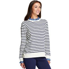 Women's IZOD Ruffle-Neck Sweatshirt