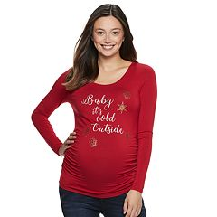 Maternity a:glow Holiday Graphic Tee