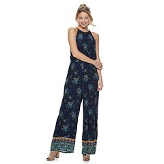 f1ae7e79cf88 Juniors  Mudd® High Neck Patterned Jumpsuit