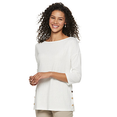 Women's Dana Buchman Button-Hem Top