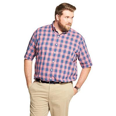 Big & Tall IZOD Sportswear Saltwater Dockside Chambray Plaid Button-Down Shirt