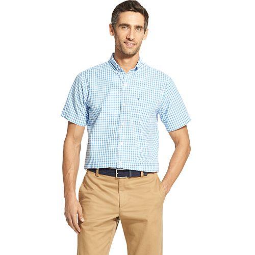 Big & Tall IZOD Breeze Cool FX Classic-Fit Plaid Button-Down Shirt