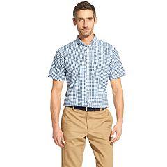 c2821e061cb Big   Tall IZOD Breeze CoolFX Classic-Fit Plaid Button-Down Shirt