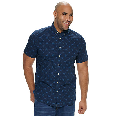 Big & Tall SONOMA Goods for Life? Flexwear Printed Button-Down Shirt