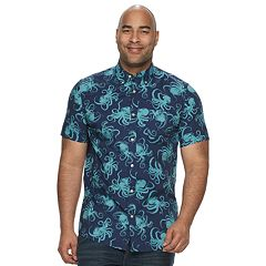 Big & Tall SONOMA Goods for Life™ Flexwear Printed Button-Down Shirt