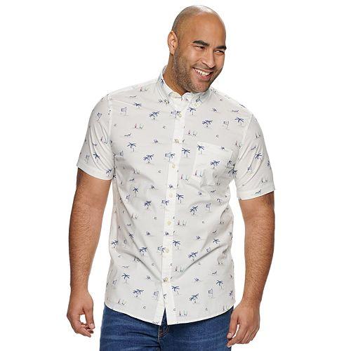 Big & Tall SONOMA Goods for Life® Flexwear Printed Button-Down Shirt