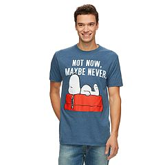 Men's Peanuts Snoopy 'Not Now, Maybe Never' Tee