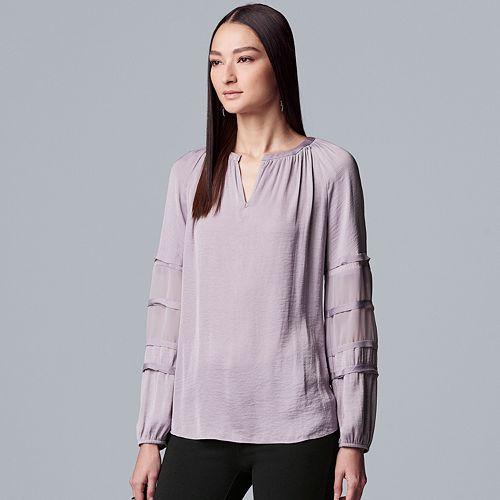 Women's Simply Vera Vera Wang Chiffon Peasant Top