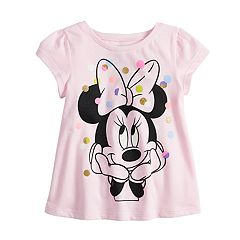 Disney's Minnie Mouse Baby Girl Short-Sleeve Glittery Dot Graphic Top by Jumping Beans®