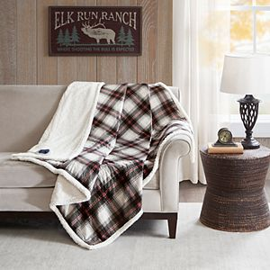 Woolrich Oversized Faux Fur & Berber Heated Throw