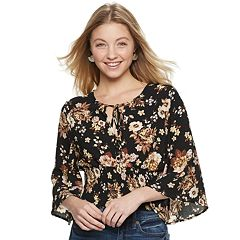 Juniors' Crave Fame Peasant Top