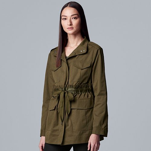 Women's Simply Vera Vera Wang Drawstring Utility Jacket