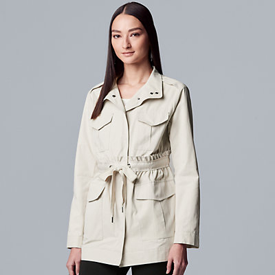 Women's Simply Vera Vera Wang Drawstring Utility Jacket