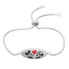Disney's Mickey Mouse 90th Anniversary Mickey & Minnie Mouse Valentine's Day Lariat Bracelet