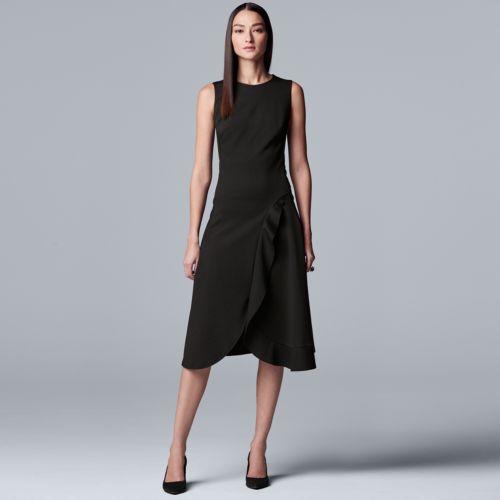 Women's Simply Vera Vera Wang Sleeveless Ponte Dress by Kohl's