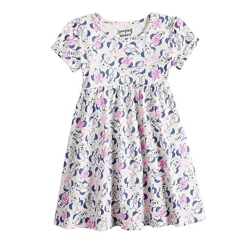 91c80fd5 Disney's Minnie Mouse Toddler Girl Print Babydoll Dress by Jumping ...