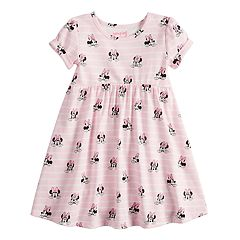 Disney's Minnie Mouse Toddler Girl Striped Babydoll Dress by Jumping Beans®