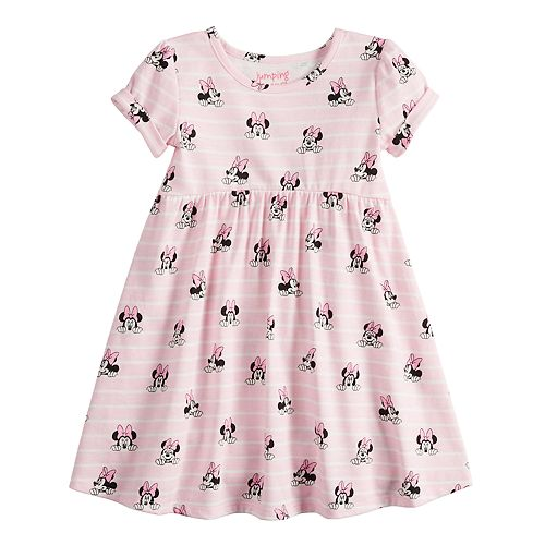5c6135ad Disney's Minnie Mouse Toddler Girl Striped Babydoll Dress by ...